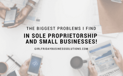 The Biggest Issues I Find in Sole Proprietorship and Small Businesses